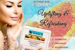 Orange Lemon Grass Premium Handmade Bathing Bar