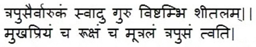 Charak Sutrasthanam, Chapter No.27, Shlok No. 110